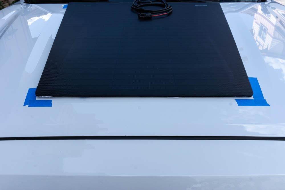 Installing Hood Mounted Solar Panel on 3rd Gen Toyota Tacoma