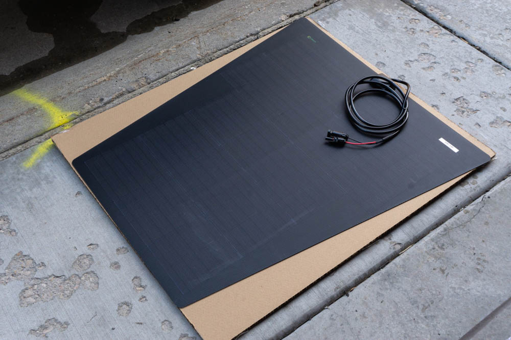 Auxiliary Solar Panel for Charging Battery & Accessories