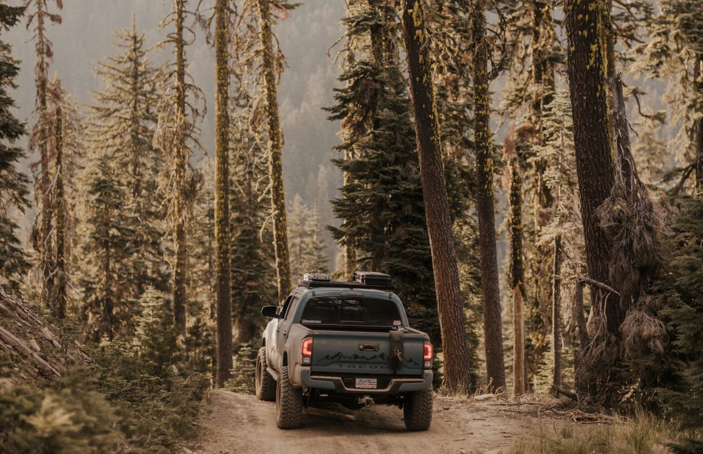 Lifted Cavalry Blue 3rd Gen Tacoma Off-Road & Overland Travel