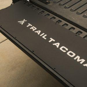 Aluminum Tacoma Tailgate Panel With Custom Trail Tacoma Etched Logo