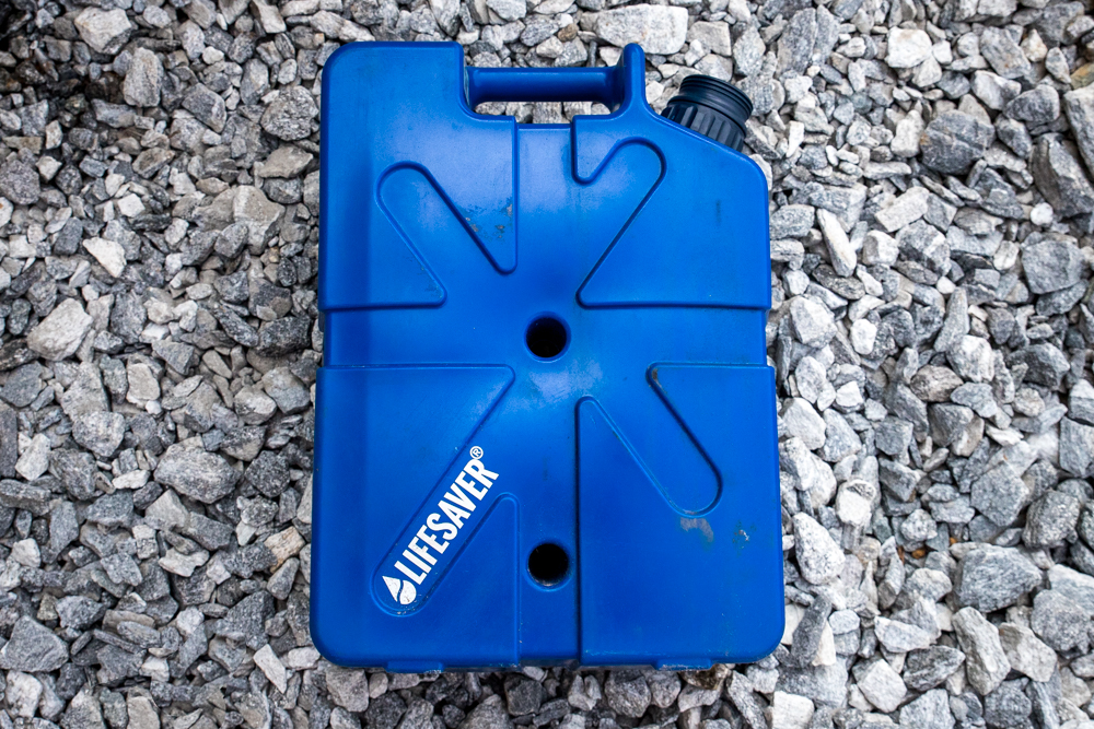 Blue LifeSaver 20,000UF Water Filtering Capacity Jerrycan for the Outdoors