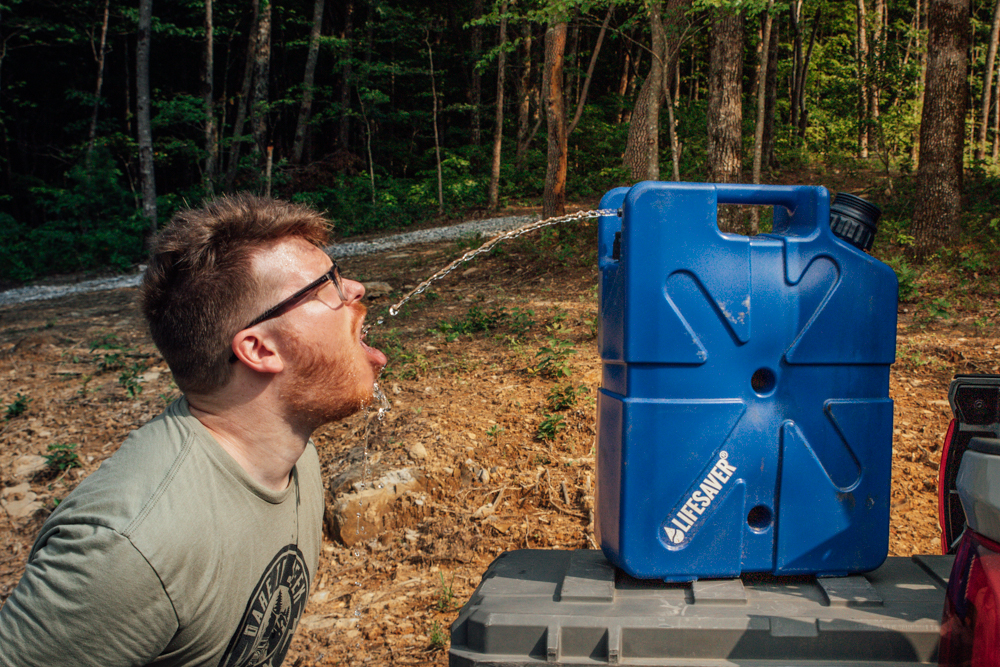 Portable Water Filtration Jerrycan for Off-Road/Overland Travel & Camping