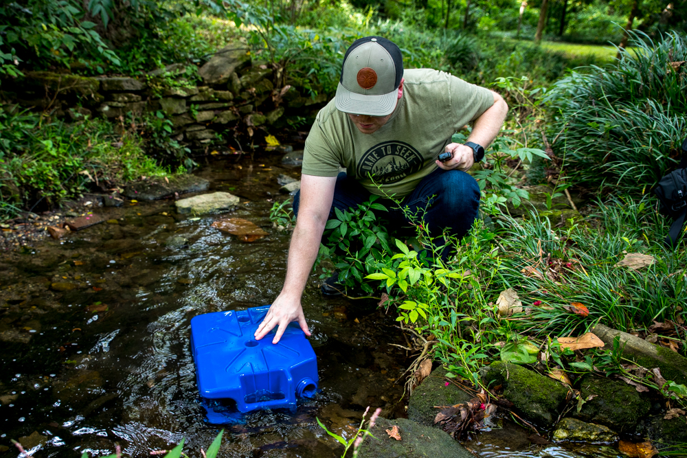 Using the Lifesaver Jerrycan Water Filter/Purifier for Safe Drinking Water from Stream