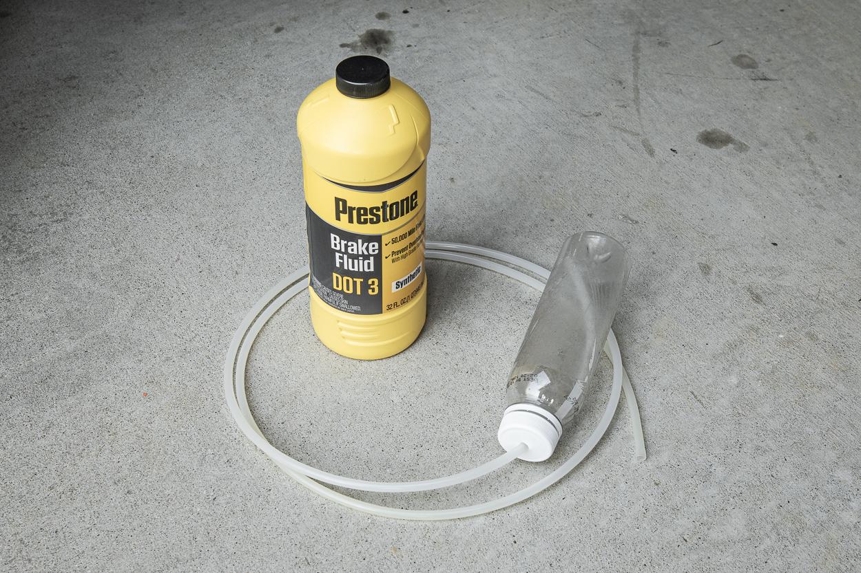"""Step 11. DIY Brake Bleeding Kit (Plastic Bottle & 5/16"""" or 1/4"""" Tubing)"""