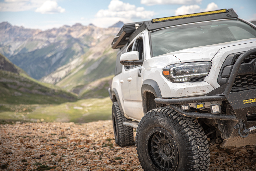 High Quality Blacked Out Headlight Housing Replacement from AlphaRex for Toyota Tacoma
